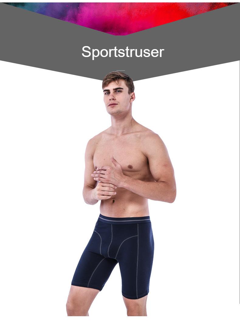 2pcs lot mens winter thick underwear boxers shorts casual cotton knee length men long leg sport boxer man thin underpans
