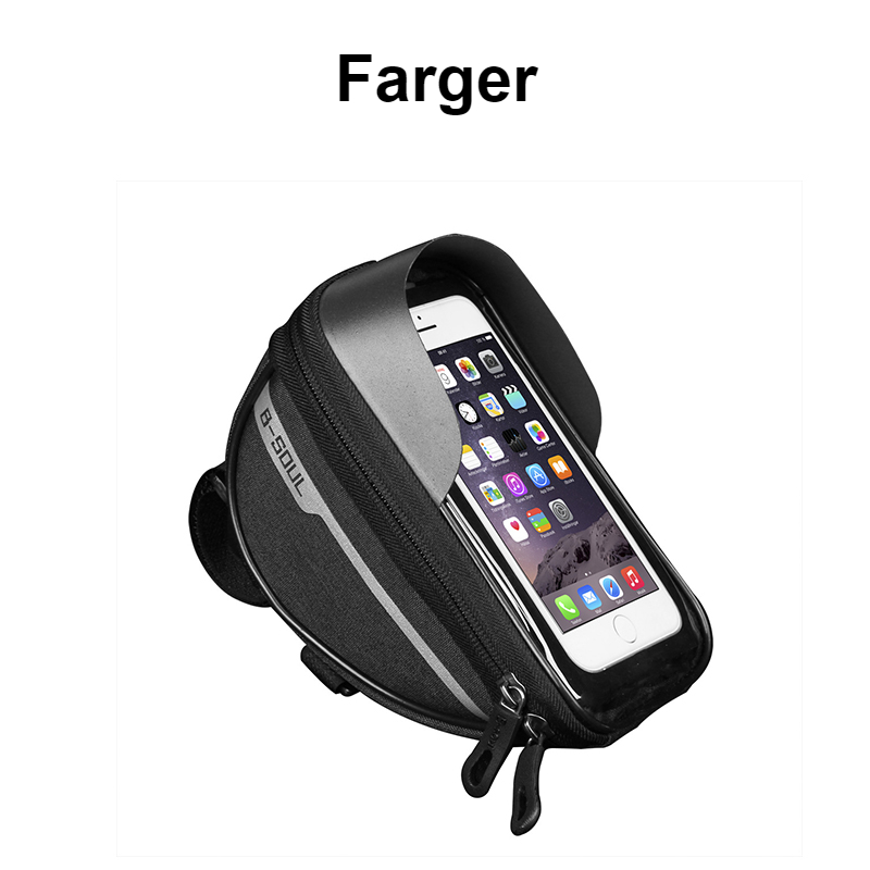 Waterproof Front Tube Touch Phone Screen Bag, Portable Hold Phone Cycling Bag,Polyster Bicycle Head Tube Mountain Road Bike Bag