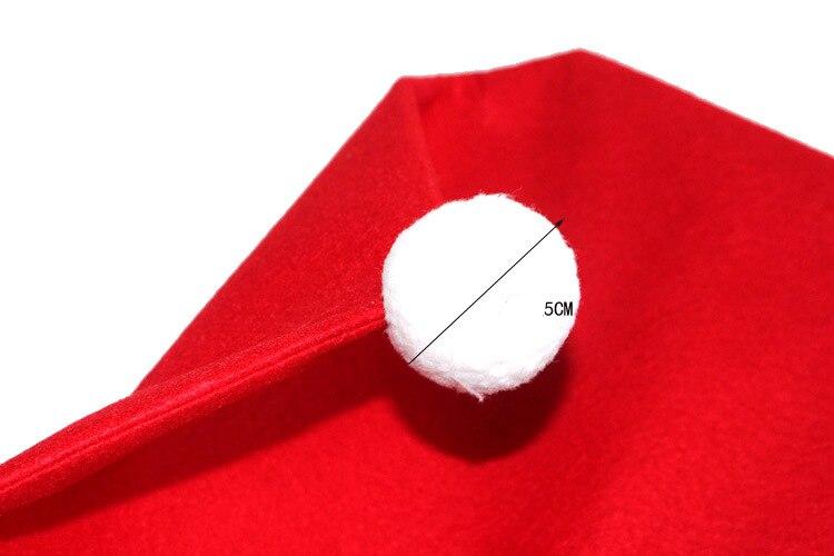 1 шт. Санта красная шляпа обеденные рождественские покрытия для стула украшения обеденный стул X-mas Кепка наборы Decoracion Navidad