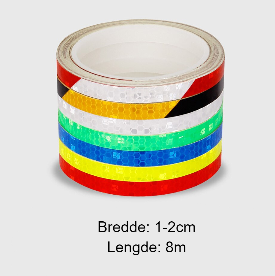 Mountain bike Reflective Stickers Reflective Strips Fluorescent Strips Luminous Reflectors Bicycle Stickers Decoration
