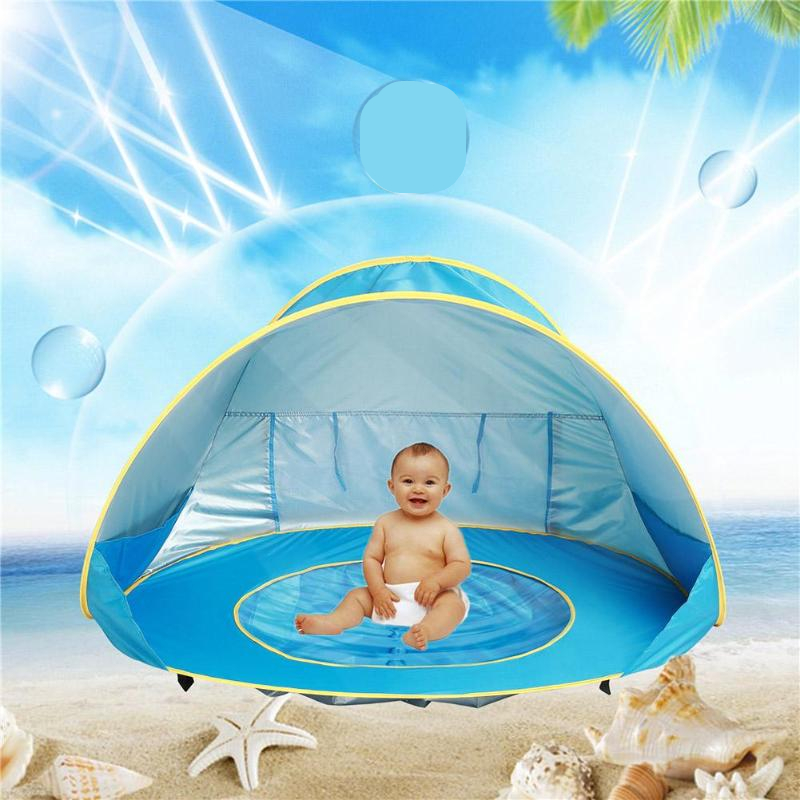 Baby Beach Tent Uv-protecting Sunshelter Children Toys Small House Waterproof Pop Up Awning Tent Portable Ball Pool Kids Tents