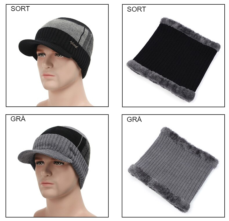 Winter Hats For Men Women Skullies Beanie Hat Winter Cap Men Women Wool Scarf Hat Set Knitted Balaclava Mask Gorras Bonnet 2020