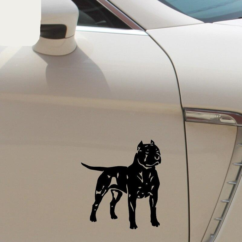 Animal Car Stickers Pit Bull American Staffordshire Terrier Dog Decal Car Decoration Reflective Stickers