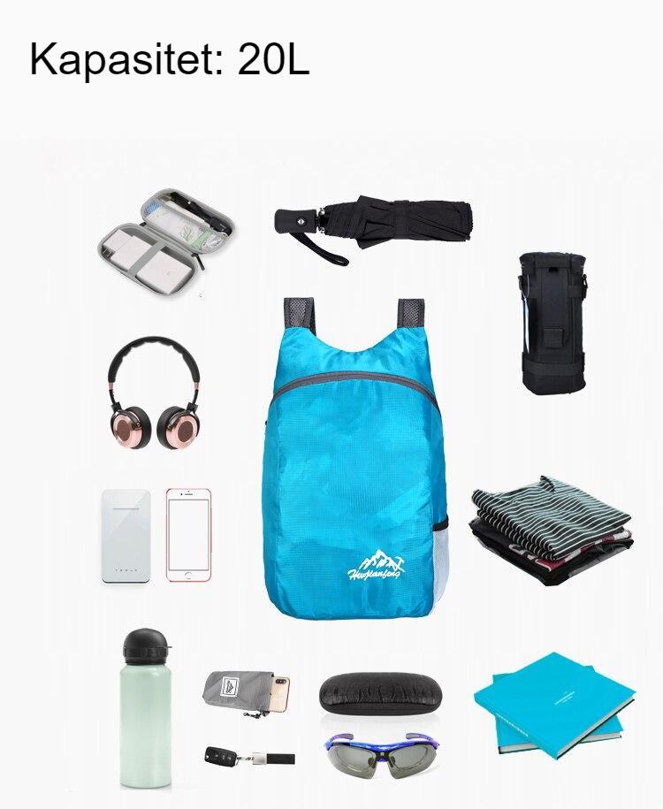 Foldable 20L Waterproof Travel Backpack,Men Women Hiking Backpack, Female Sport Bags, Outdoor Climbing Bag For Children Boy Girl