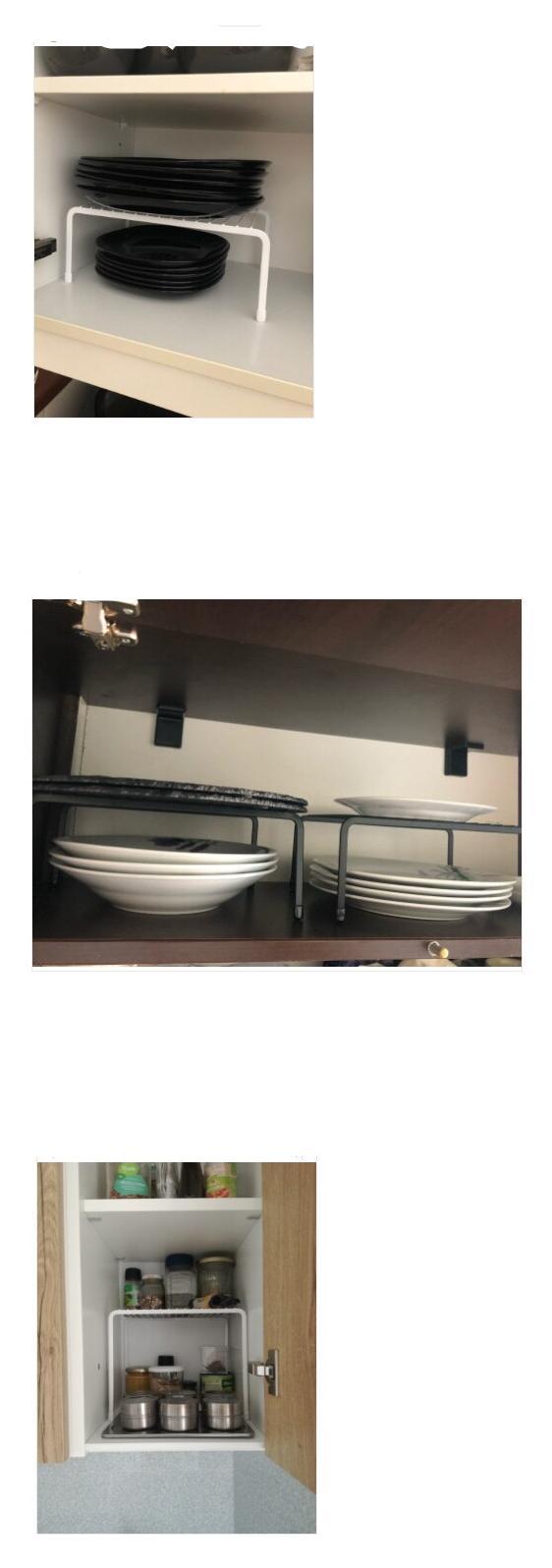 Iron Kitchen Storage Rack Closet Shelf Dish Drying Rack Spice Jars Holder Seasoning Bottles Shelves Spice Rack Kitchen Organizer