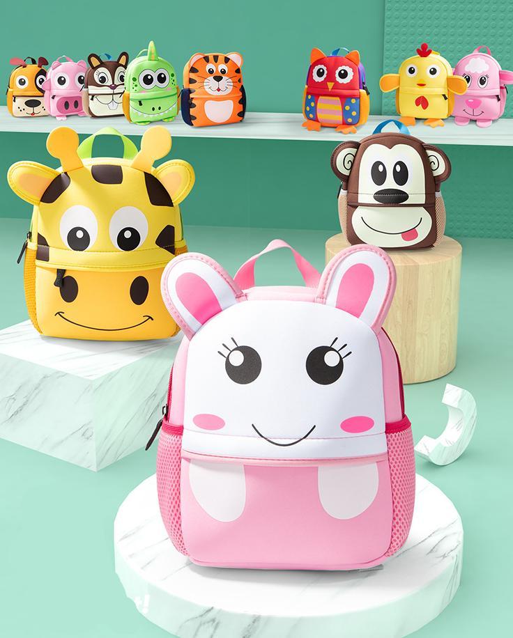 Cute Toddler Kid Kindergarten School Bag 3D Cartoon Animal Nackpack New Baby Boy Girl School Bag Children 1-6 years