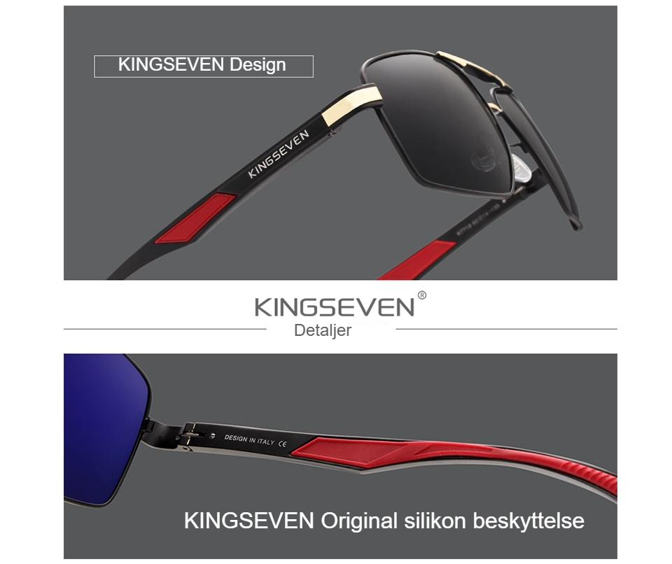 KINGSEVEN Aluminum Men's Sunglasses Polarized Lens Brand Design Temples Sun glasses Coating Mirror Glasses Oculos de sol 7719