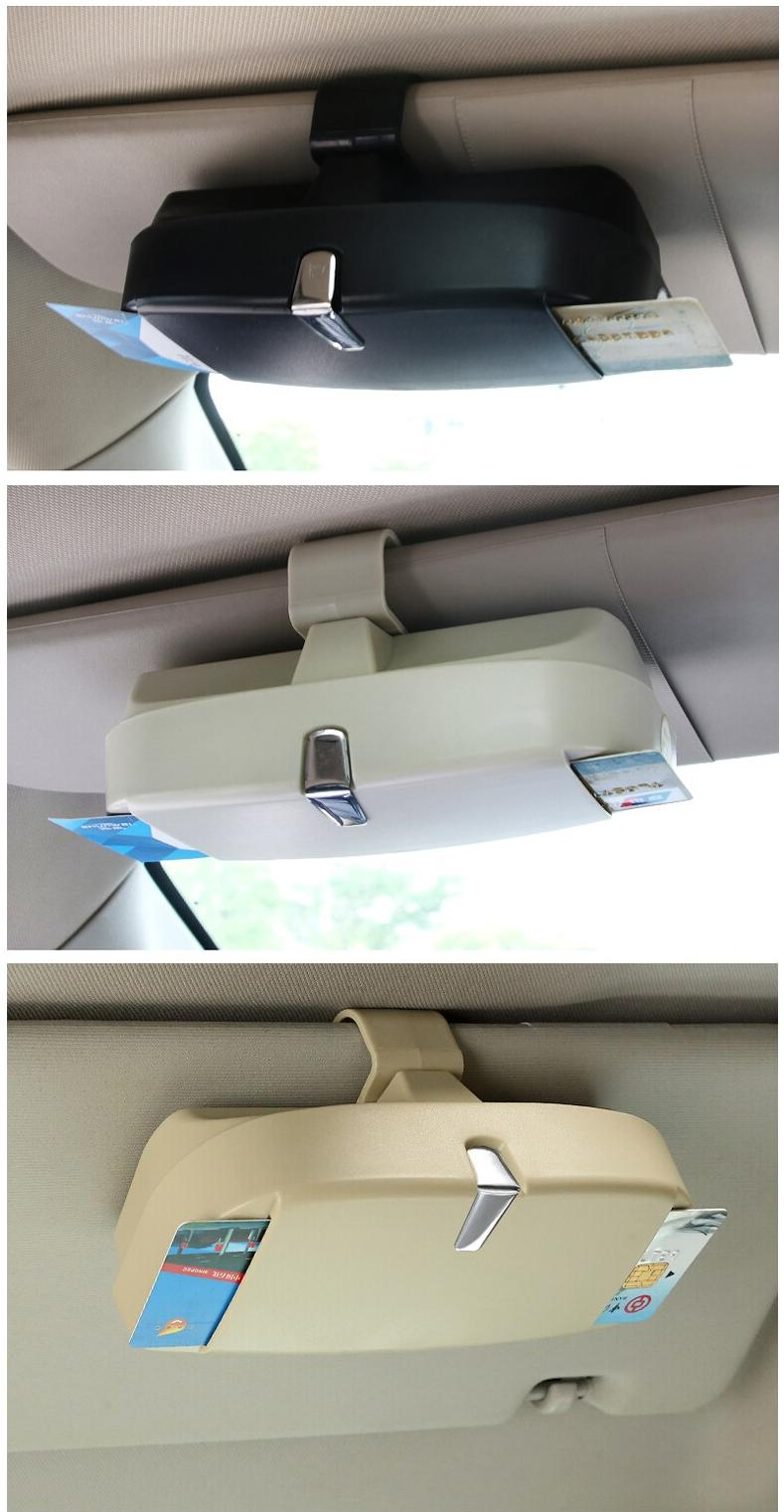 Car Sunglasses Holder Cars Glasses Storage For Sun Visor Mounting Sunshade Organizer Pocket Stowing Tidying Interior Accessories