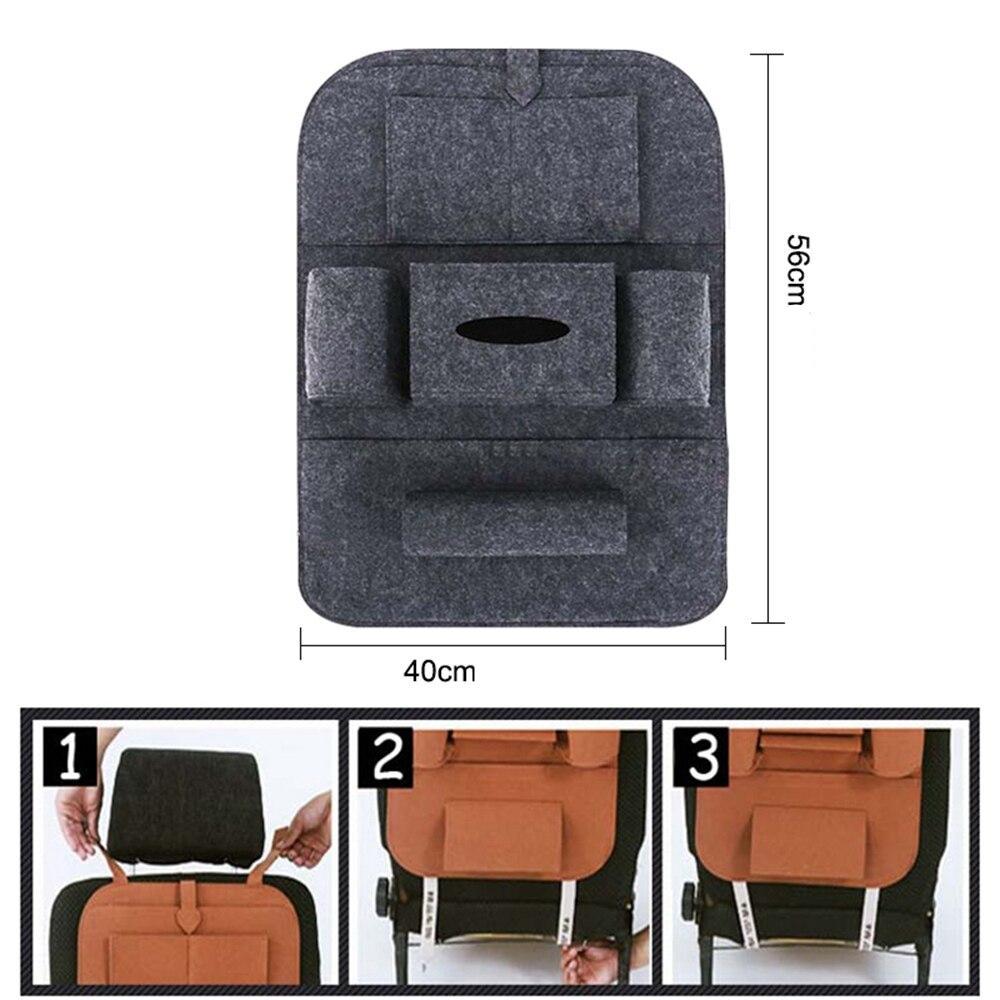 IKSNAIL Car Rear Seat Back Storage Bag Universal Backseat Holder Pocket Organizer Car-styling Protector Car Accessories Supplies