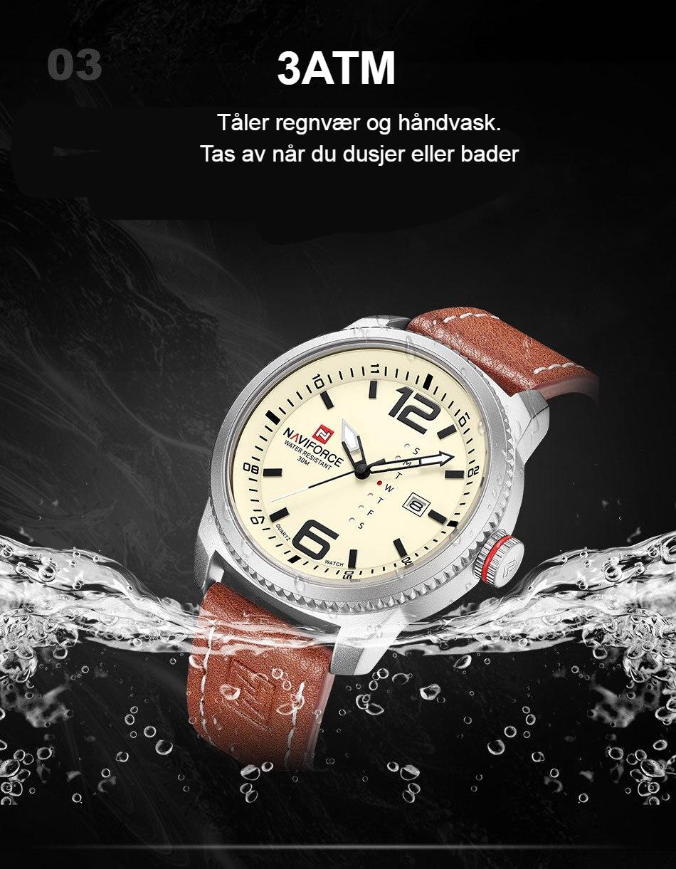 2019 Luxury Brand NAVIFORCE Date Quartz Watch Men Casual Military Sports Watches Leather Wristwatch Male Relogio Masculino Clock