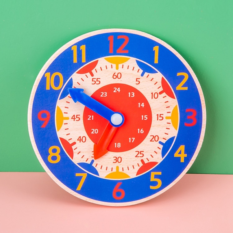Colorful Wooden Clock Toy