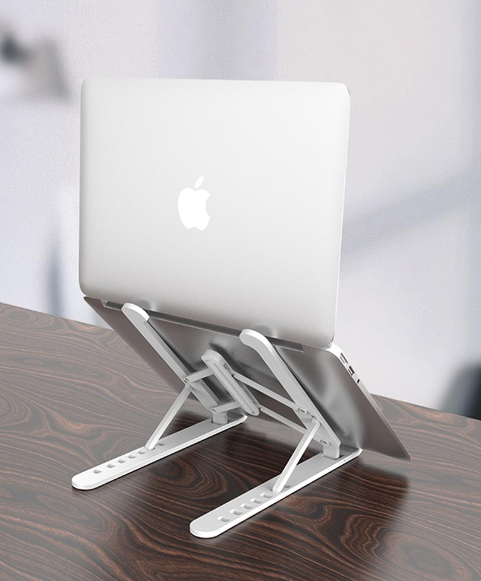 GOOJODOQ Adjustable Foldable Laptop Stand Non-Slip Desktop Notebook Holder Laptop Holder For Macbook Pro Air iPad Pro DELL HP