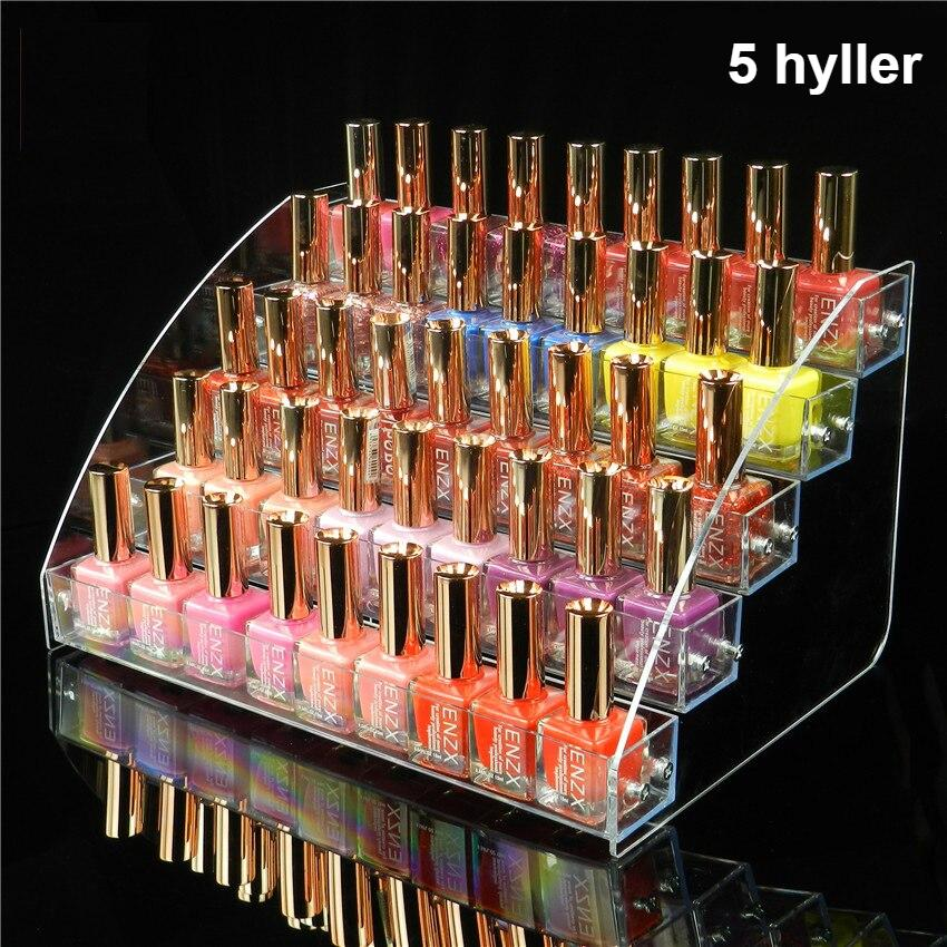 2/3/4/5/6/7 layers Nail Polish Display Stand Clear Cosmetic Varnish Display Rack Holder Essential Oil Bottle Organizer Storage