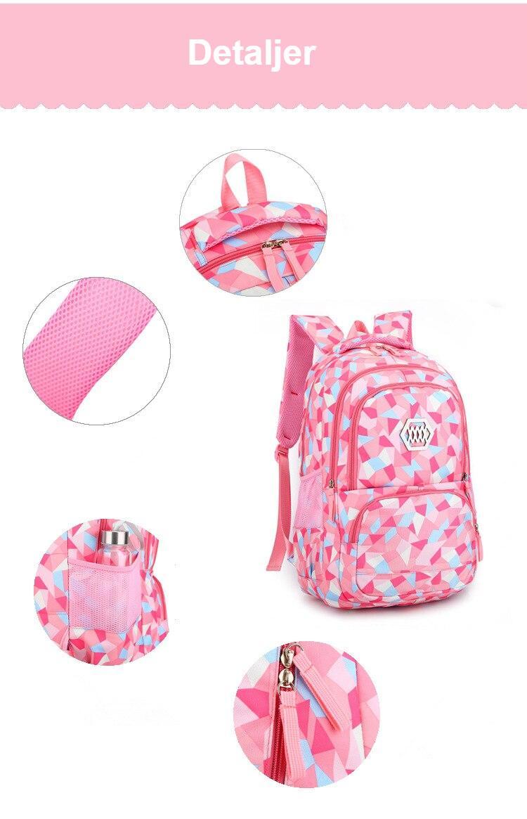 2020 New Fashion School Bag For Girls Waterproof Light Weight Children Backpack Bookbags Printing Kids School Backpack mochila