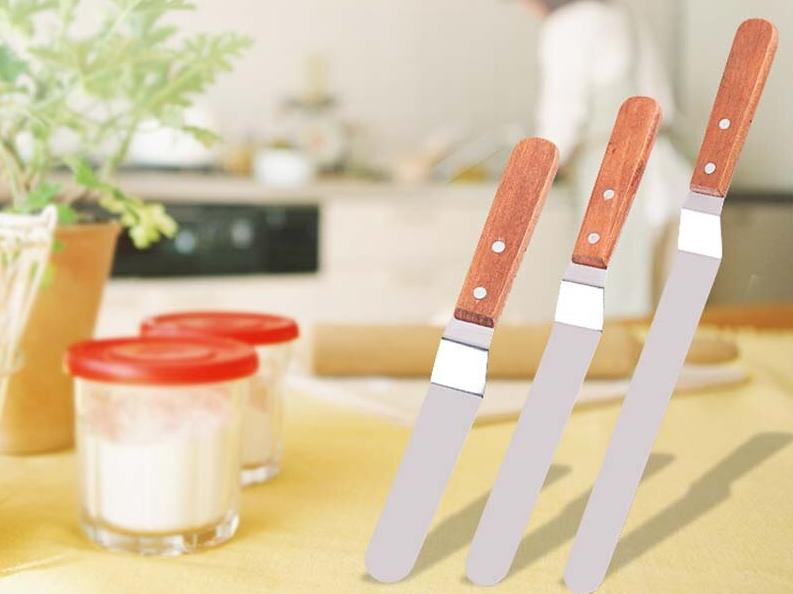 1Pcs Stainless Steel Cake SpatulaBaking & Pastry Tools Portable Cream Spatula Butter Icing Frosting Knife Cake Decoration Tools