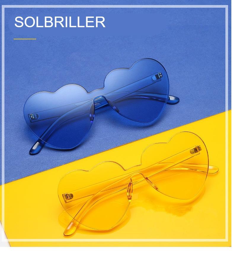 Kawaii Transparent Heart Shaped Sunglasses
