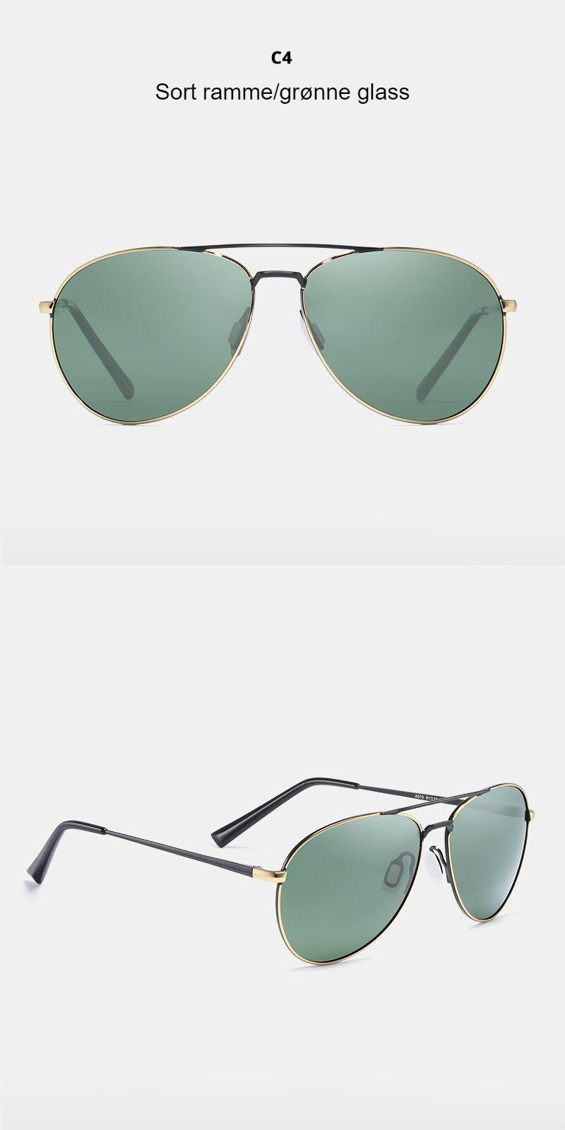 KDEAM Couple Pilot Sunglasses Polarized Men Twin Bridge Driving Men's Sun Glasses With Anti-Skid Silicone Nose Pad