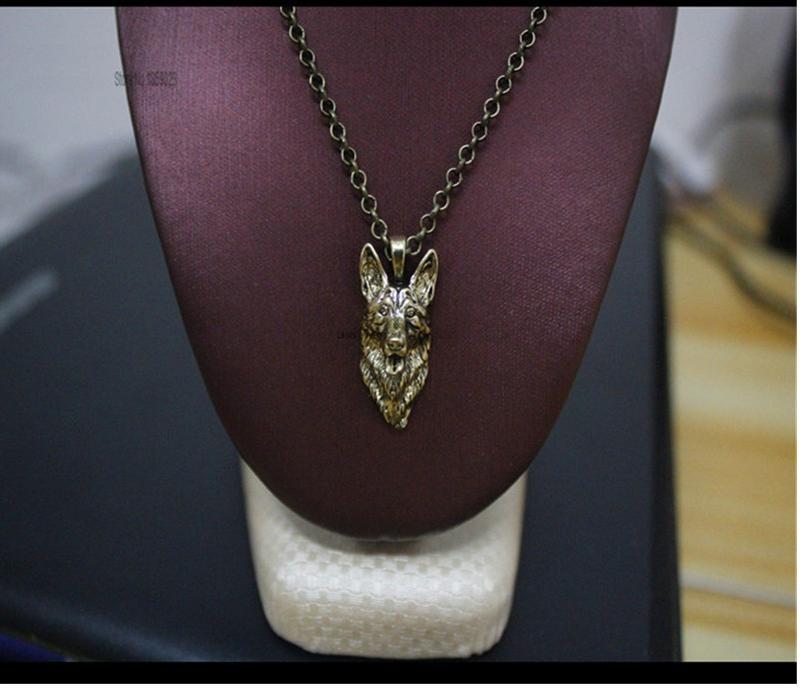 German shepherd necklace dog pendant Animal series jewelry for pet lovers
